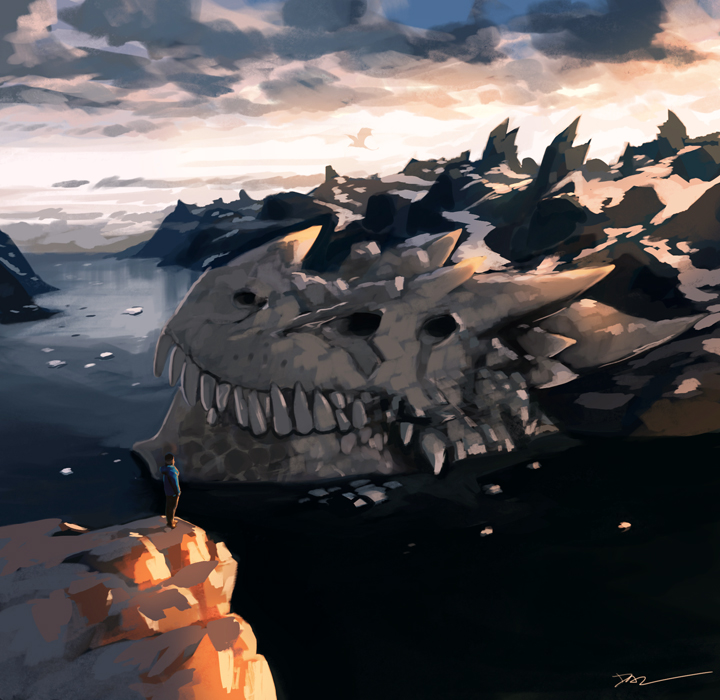 Dragon Skull Bay by tohdraws