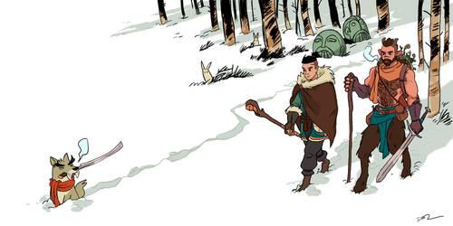 26 Trek Through The Snow Forest