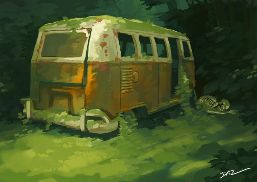 Abandoned Van by tohdraws