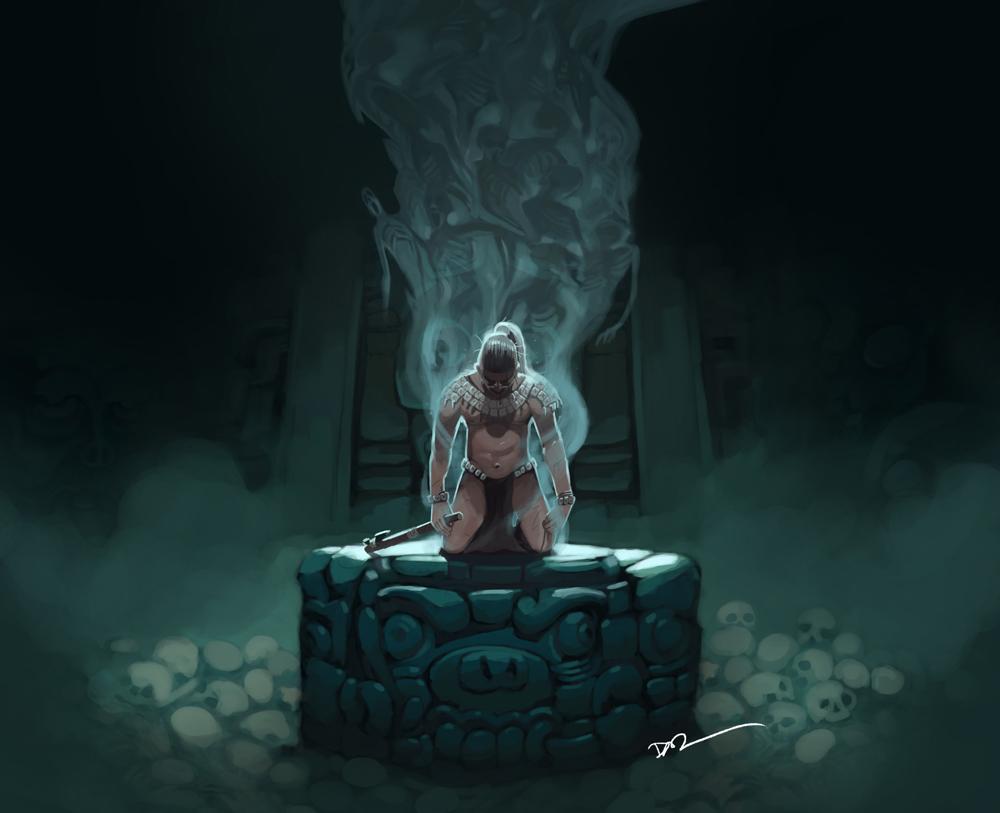 Fallen Warrior by tohdraws