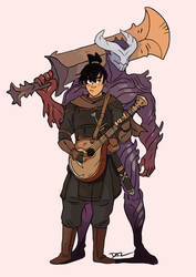 Bard and the Demon Knight by tohdraws
