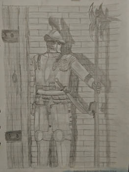 Uncolored Edenstran Outer Palace Guard