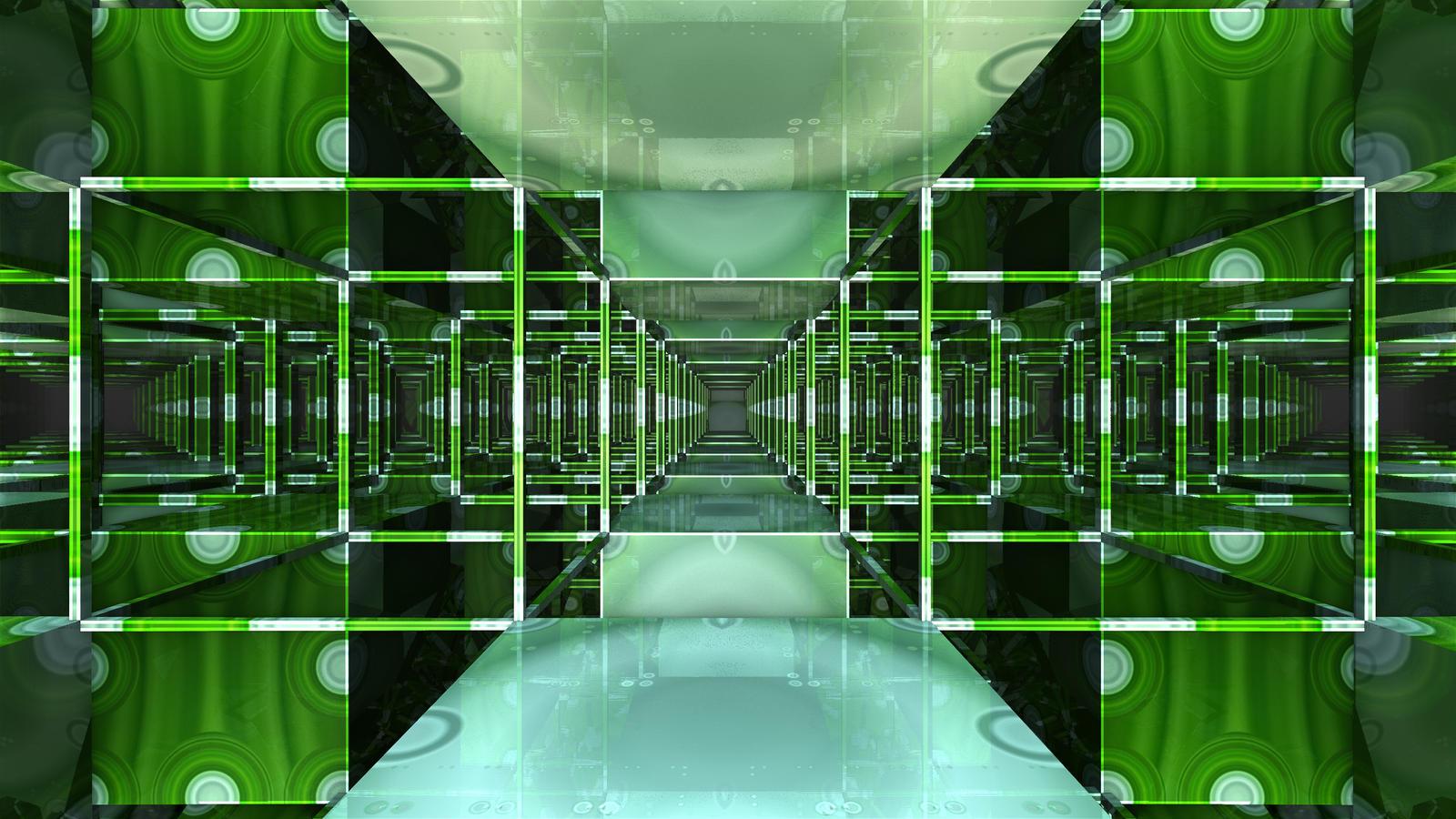 Green Apple Polka-dot Framework by Baddad