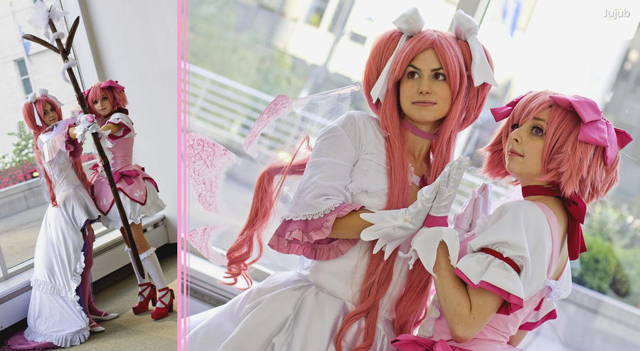 Goddess Madoka and Madoka by jujub