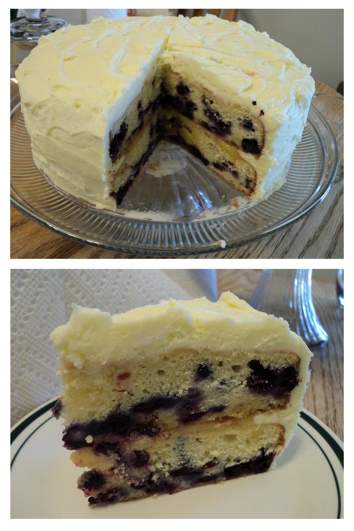 Lemon Blueberry Cake by Brookette