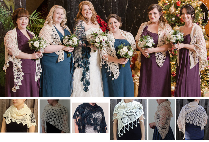 Wedding Shawls by Brookette