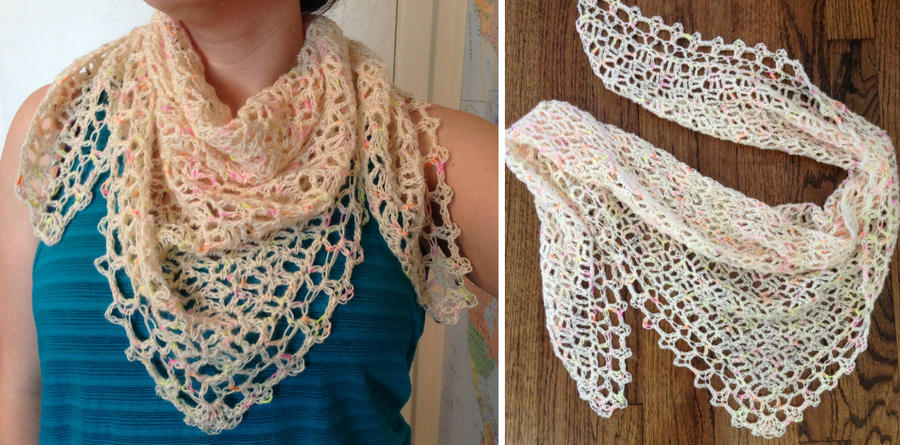 Neon Shawlette by Brookette