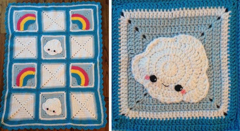 Cute Cloud Blanket by Brookette