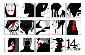 14 doodles of NIGHTMARE by prema-ja