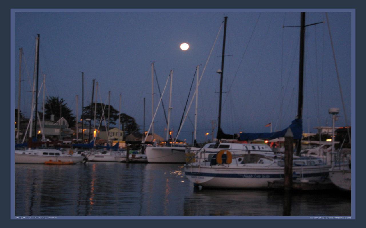 Santa Cruz Harbor at Twilight by WillDBill