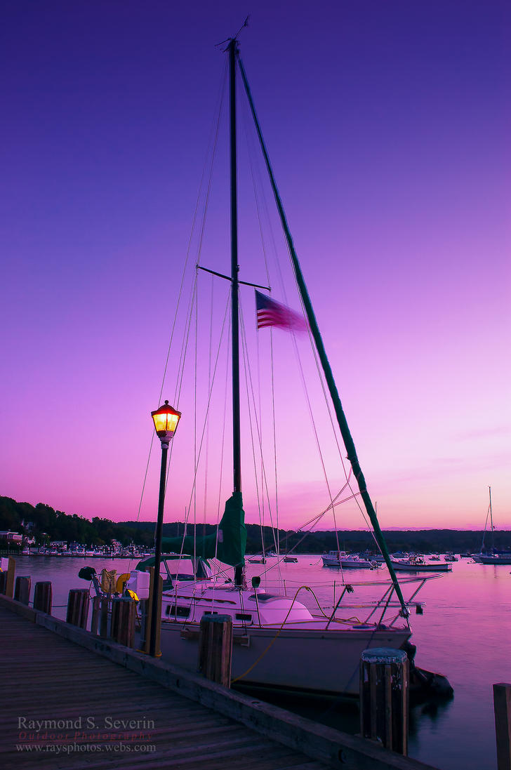 Twilight By The Harbour by LenseMan