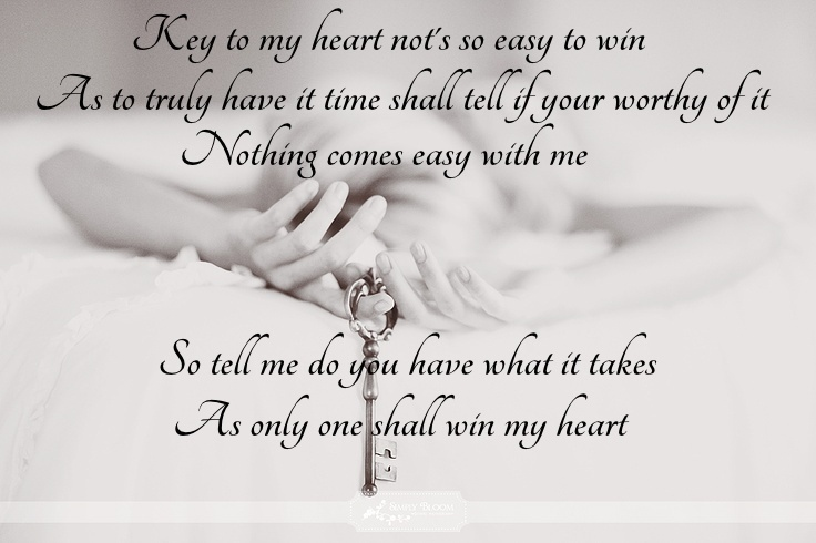 You hold the key to my heart poem