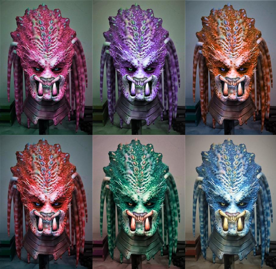 Female Predator Heads by WreavFx