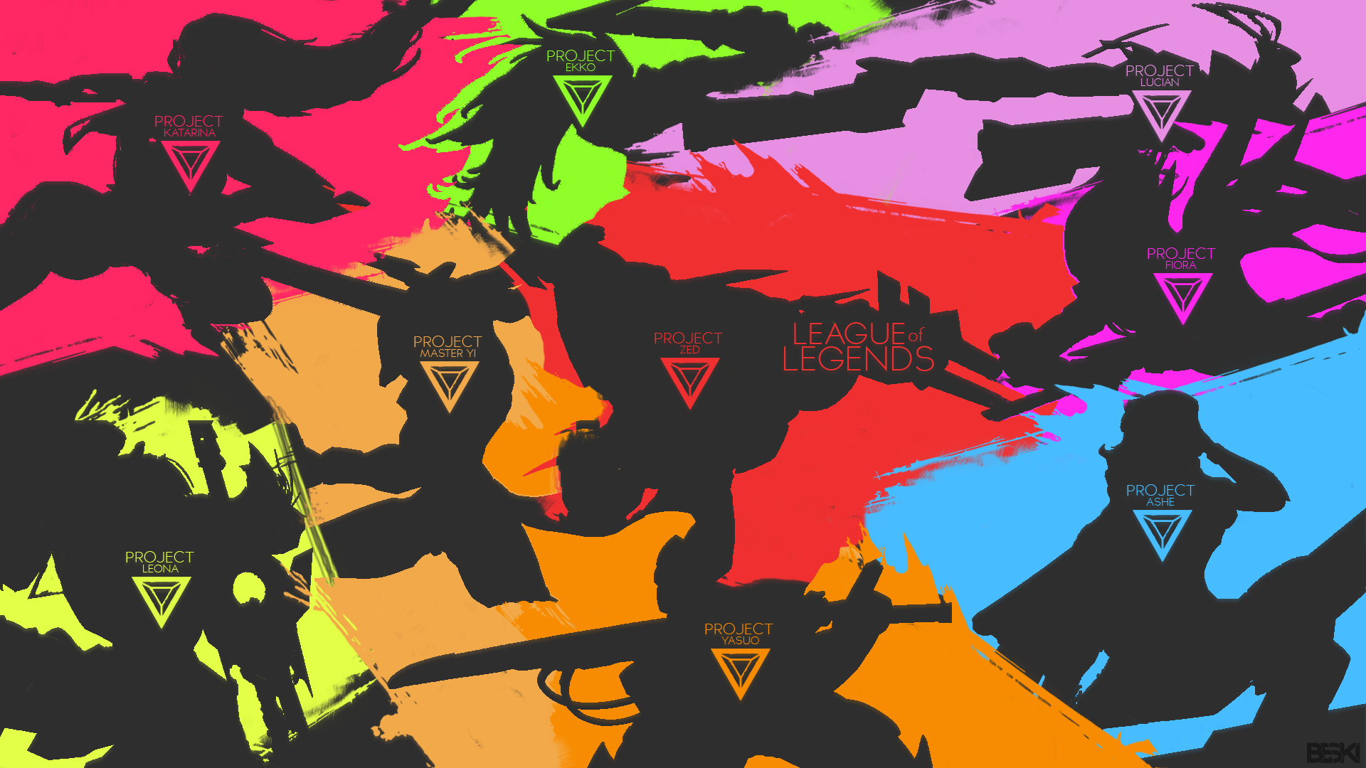 League Of Legends Project Skins Wallpaper By Beski