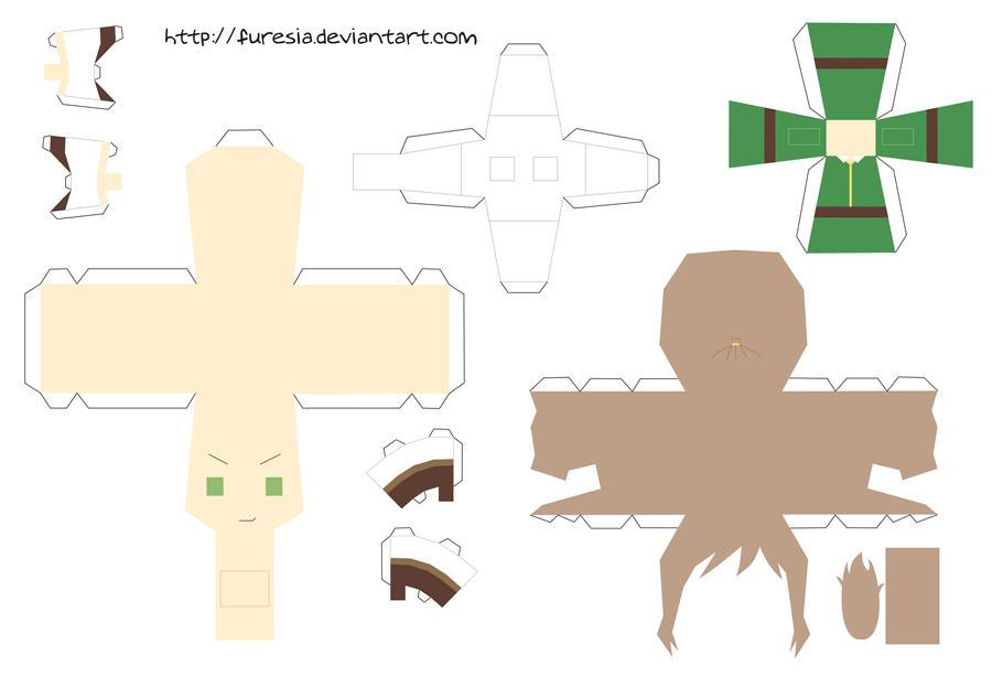 papercraft - Chibi Hungary by Furesia