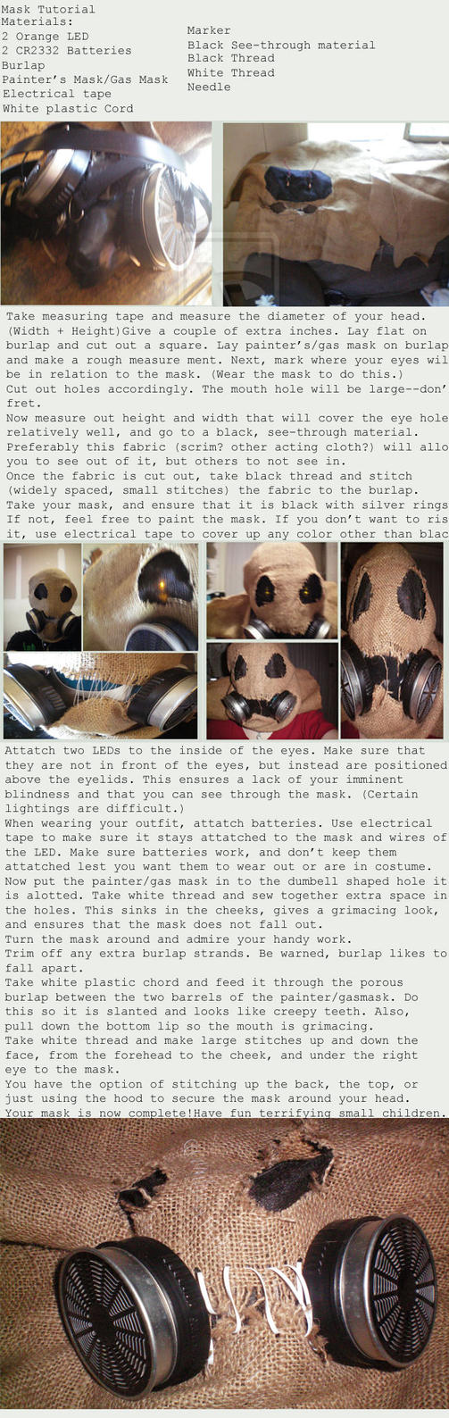 Scarecrow Mask Tutorial by Defenestrate-Felt