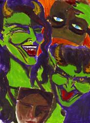 Unseelie Satyrs by DevilsDandyDog