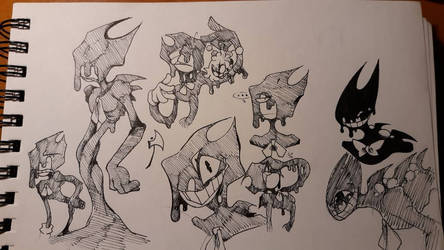 Some more Bendy Doodles by 00TheInkJester00