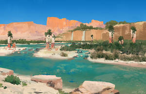 Desert Oasis by PavelElagin