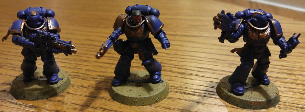Space Marines - Painting Attempt by KSchnee