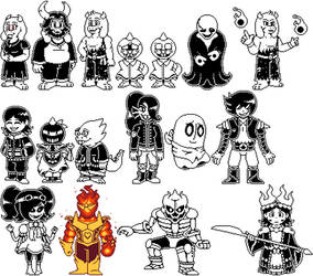 [Undertale AU - Alternate Reality] The Cast Remade