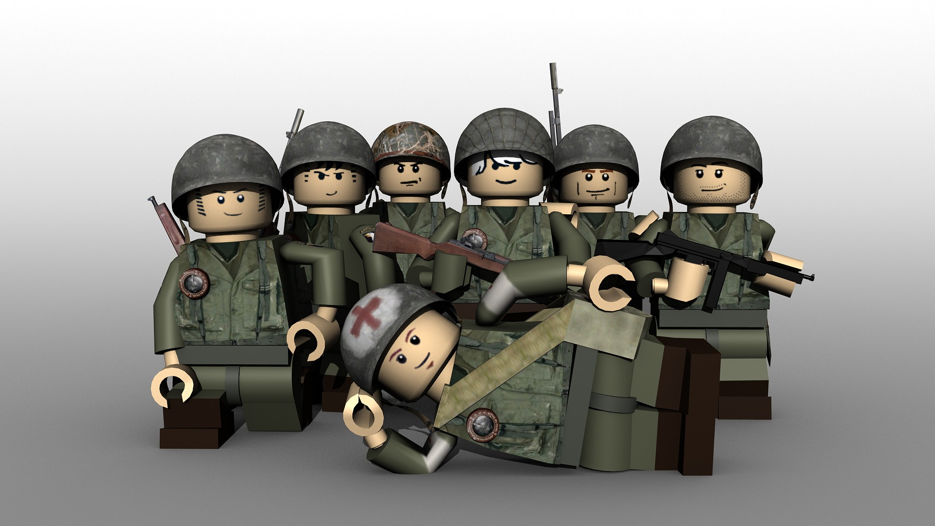 LEGO WW2 American Soldiers