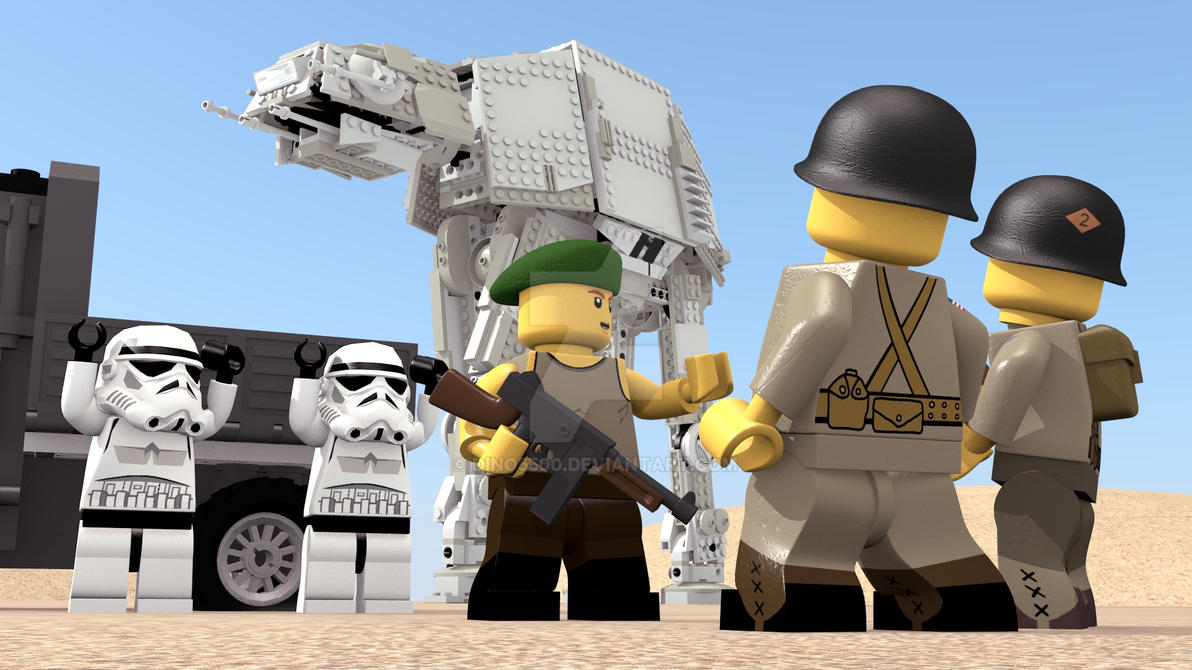 LEGO ATAT in world war II