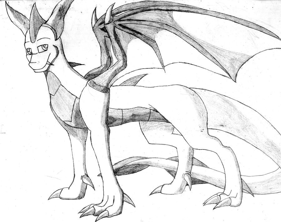 Dragon122 character sketch by DragonJuno