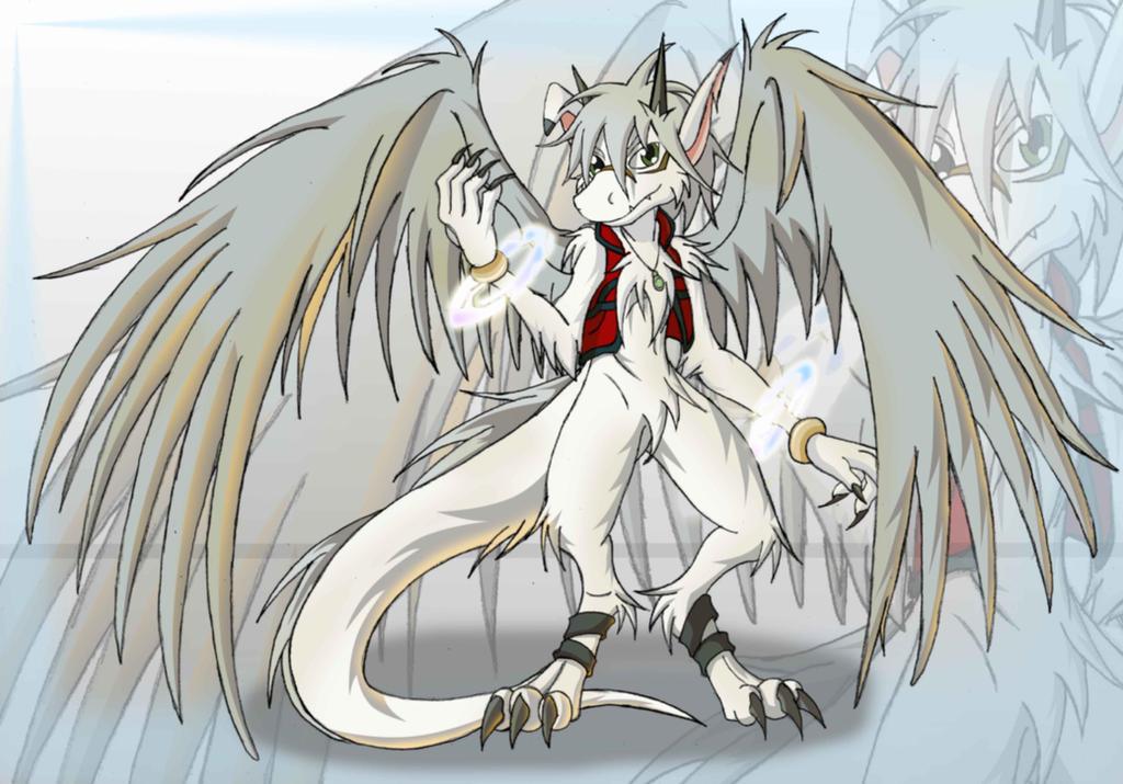 The white dragon by DragonJuno