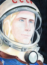 A Soviet cosmonaut