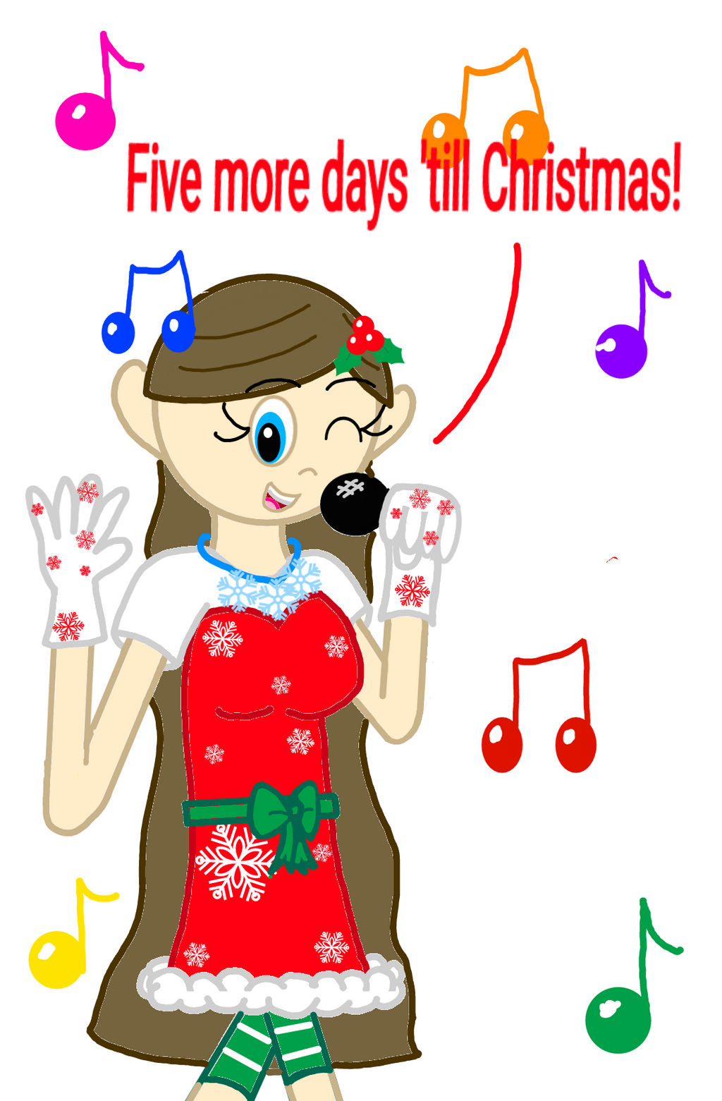 How Many More Days Until Christmas.Five More Days Till Christmas By Sweetiepie17 On Deviantart