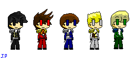 custom Ninjago sprites!!!! ( Lloyd added ) by Khoall-teh-Ninja