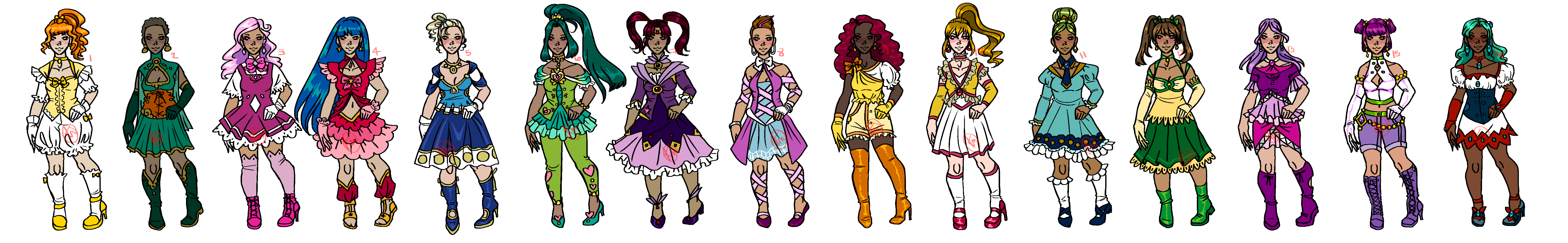 Magical Girl Outfit Designs By KiniBee On DeviantArt