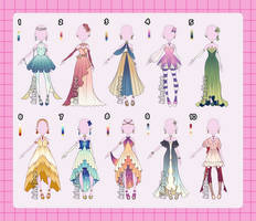 Fantasy Outfit Adopts [closed]