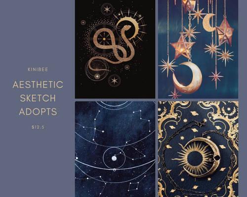 Celestial Fantasy Aesthetic Sketch Adopts [closed]