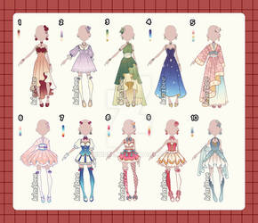 Fantasy Outfit Adopts [closed ty]