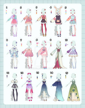 Fantasy Outfit Adopts [open 1 left!]