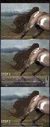 Hair (tail) TUTORIAL by Twistyh-stock