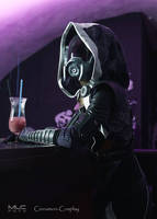 Tali'Zorah cosplay - emergency induction port by Cinnamon-Cosplay