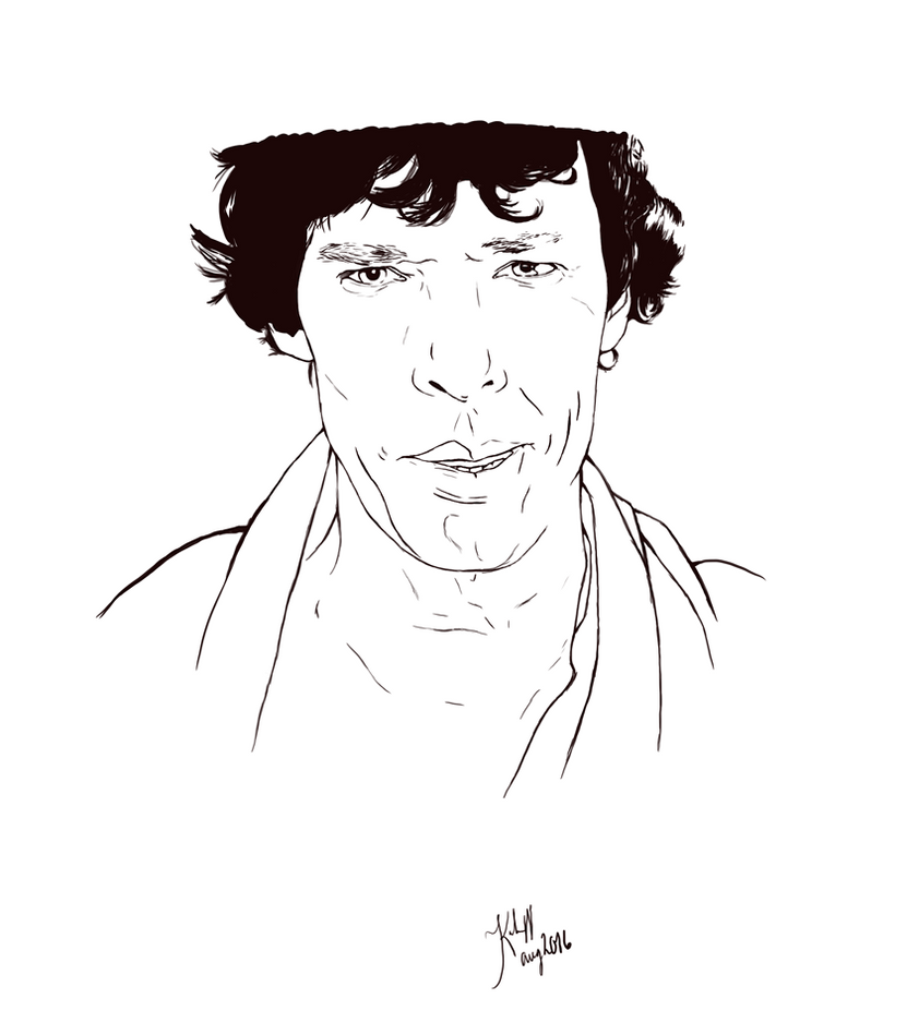 Digital Painting Without Lineart : Digital sherlock lineart by annocent on deviantart