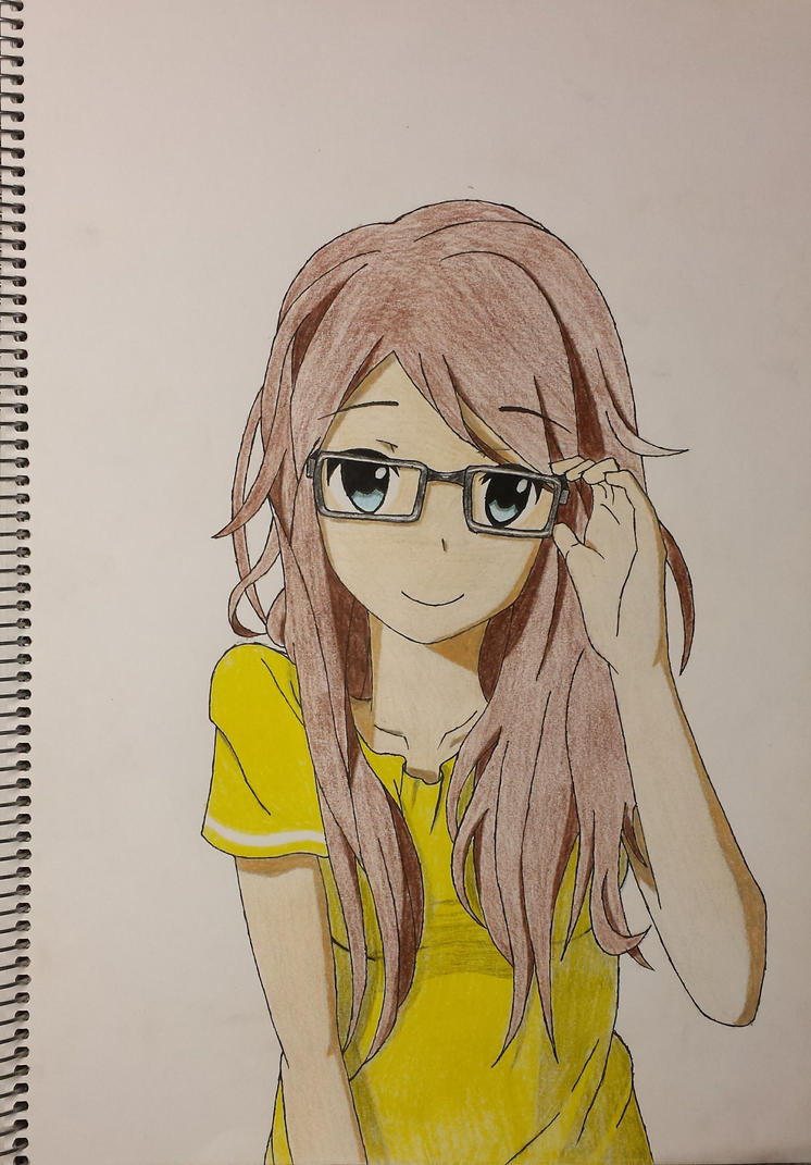 Cute Nerdy Girl By Semmetjuh
