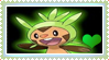 Stamp- Chespin by lightvanille