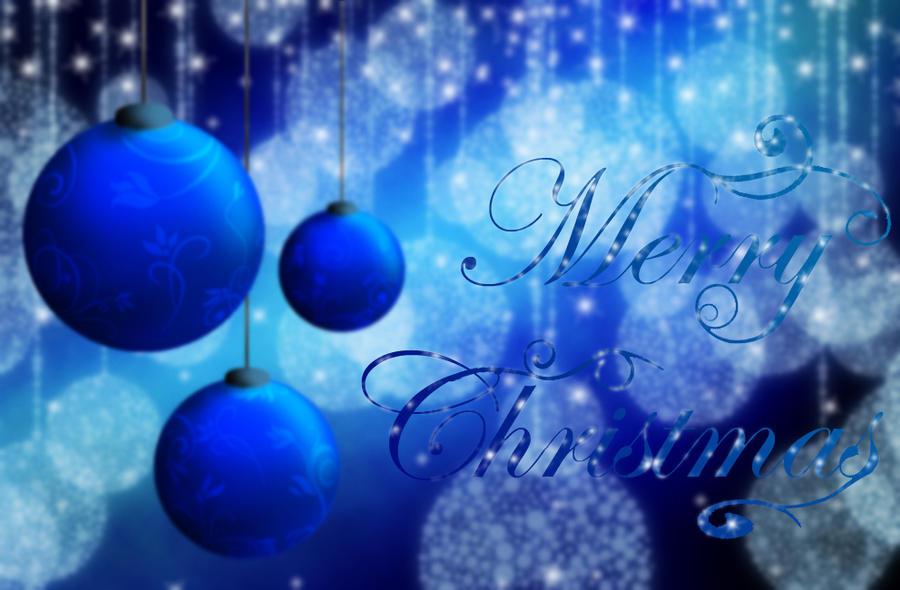 Merry Christmas - Blue by Ekoki on DeviantArt