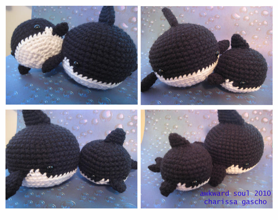 Amigurumi Today Whale : Orca killer whale amigurumi by awkwardsoul on deviantart