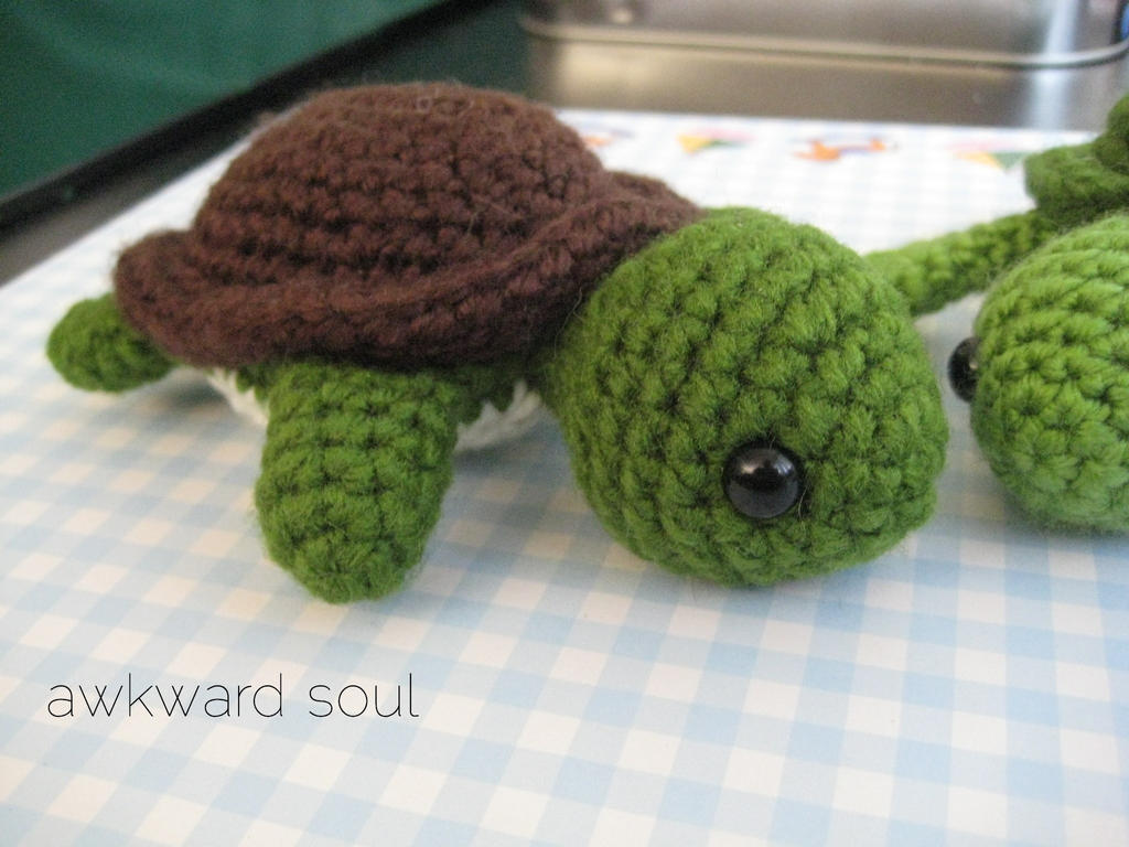 Crochet Patterns Turtle : Turt Turtle Amigurumi 1 - by awkwardsoul on deviantART