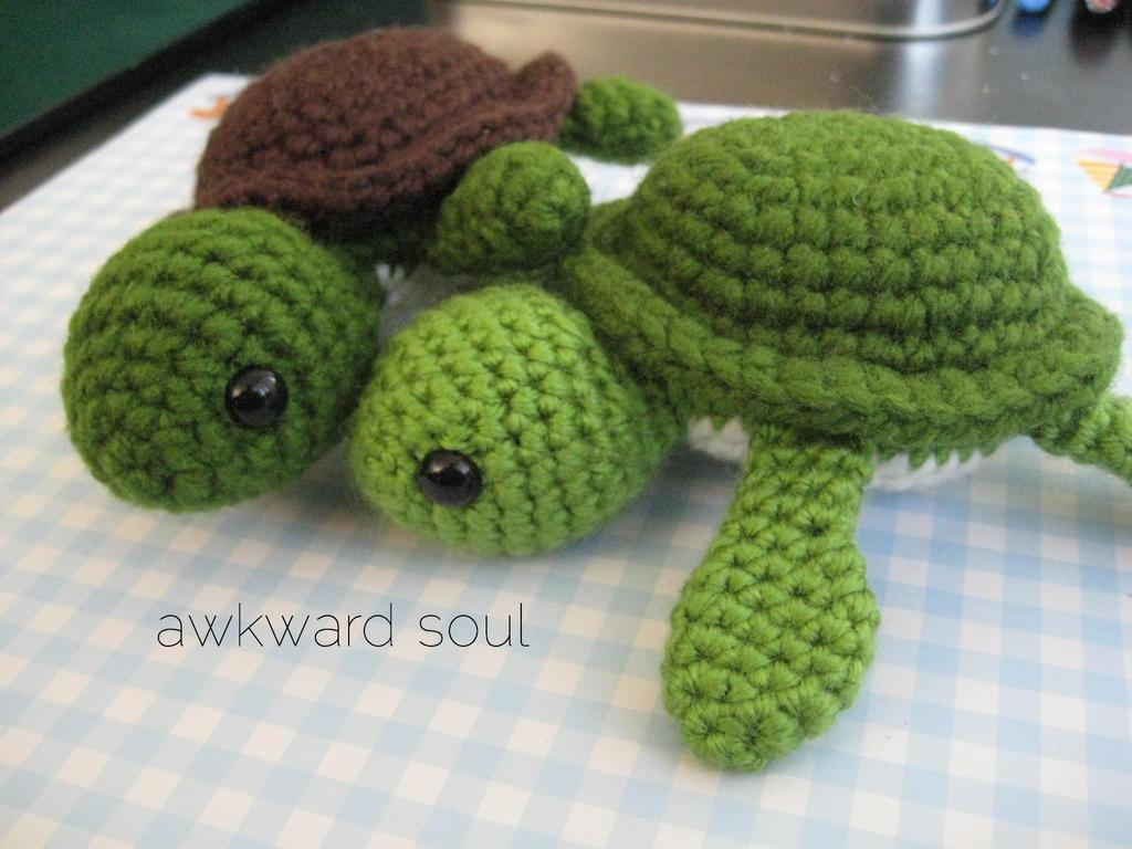 Amigurumi Free Patterns Turtle : - Turt Turtle Amigurumi 2 - by awkwardsoul on DeviantArt