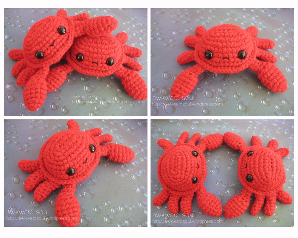 Crochet Amigurumi Crab : - Crab Amigurumi - by awkwardsoul on DeviantArt