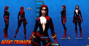 Agent Crimson Costume Ref 02