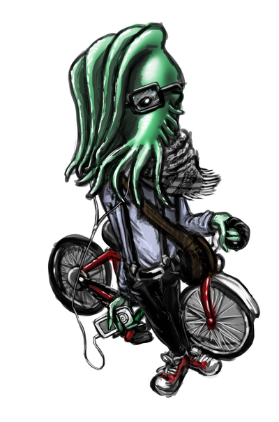 A hipster Cthulhu