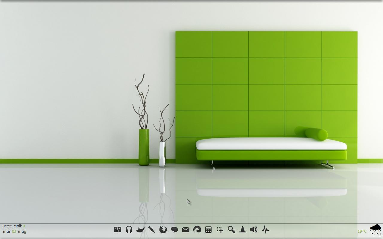Ubuntu 10.10 Green Elegance by Klaus83